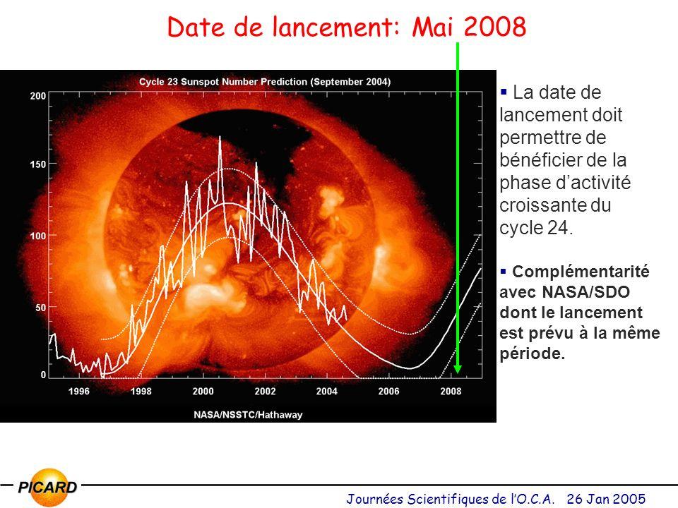 Date de lancement: Mai 2008 La date de lancement doit permettre de bénéficier de la phase d'activité croissante du.