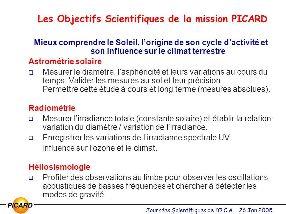 Les Objectifs Scientifiques de la mission PICARD