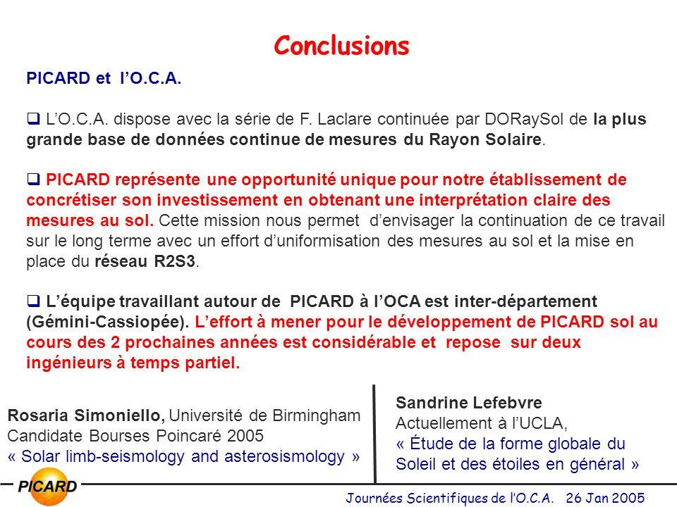 Conclusions PICARD et l'O.C.A.