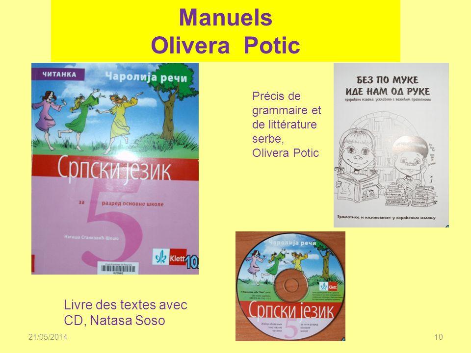 Manuels Olivera Potic Livre des textes avec CD, Natasa Soso