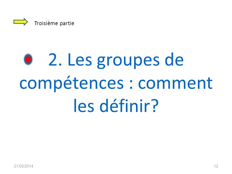 2. Les groupes de compétences : comment les définir