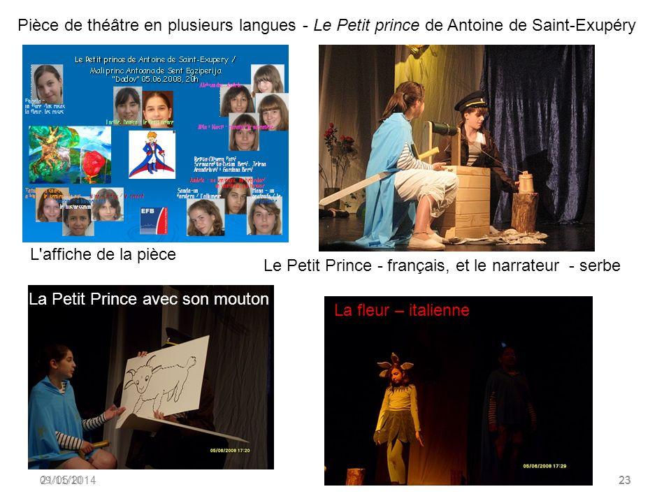 Le Petit Prince - français, et le narrateur - serbe