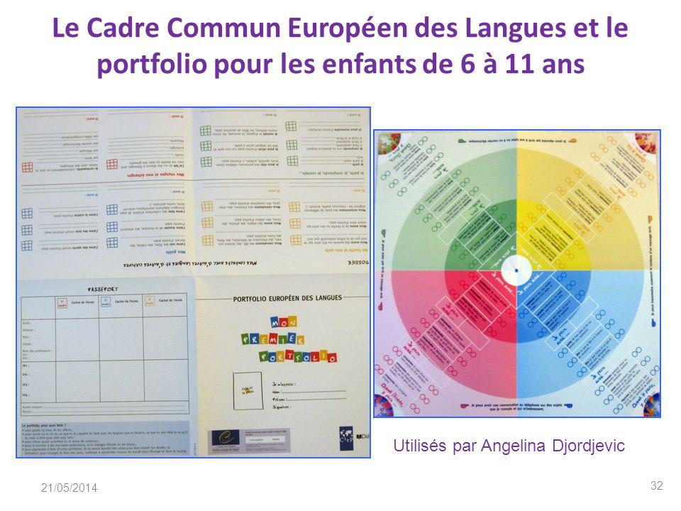 Le Cadre Commun Européen des Langues et le portfolio pour les enfants de 6 à 11 ans