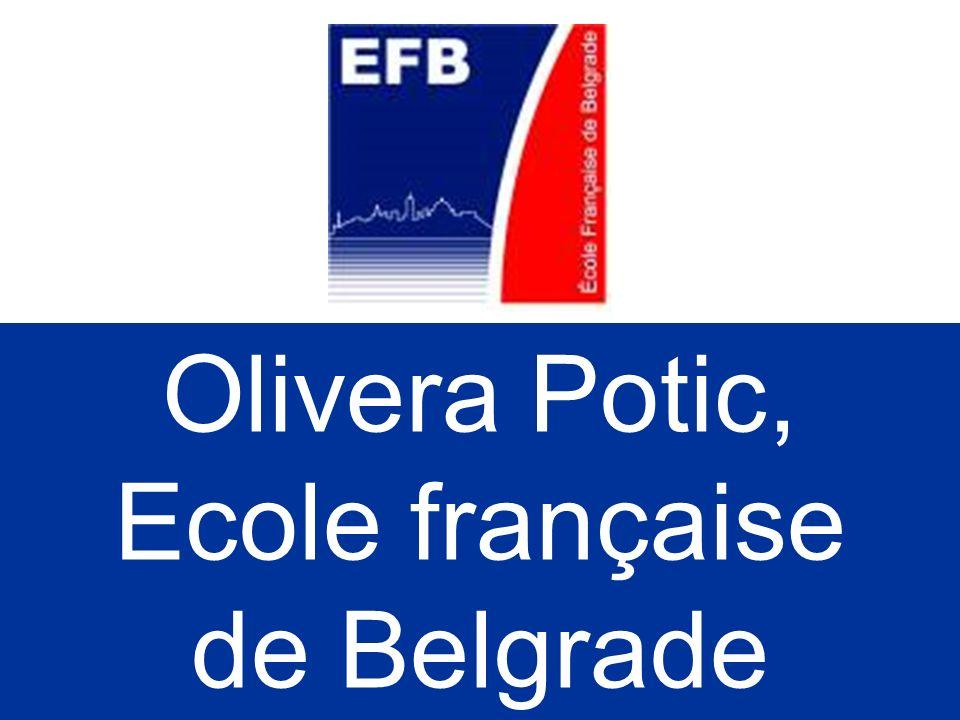 Olivera Potic, Ecole française de Belgrade 31/03/2017