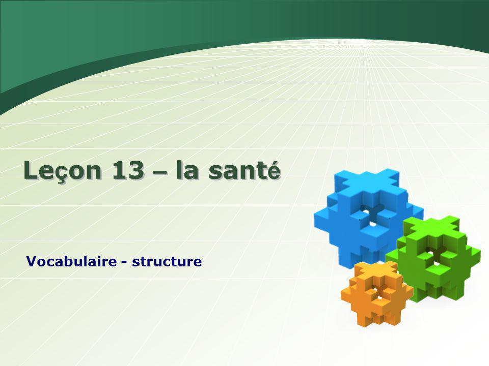 Vocabulaire - structure