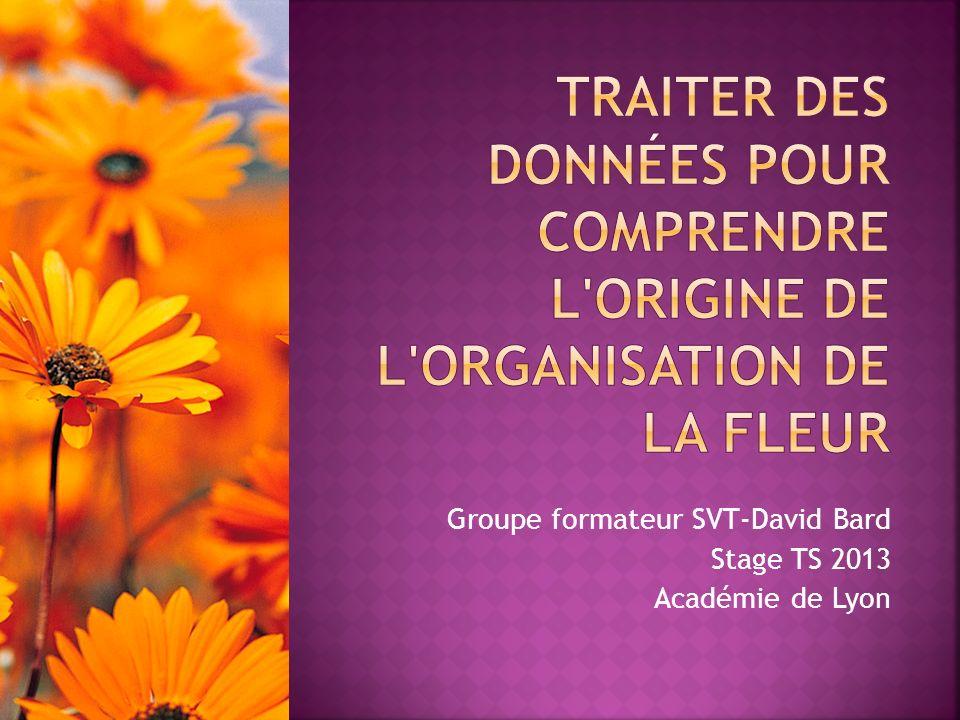 Groupe formateur SVT-David Bard Stage TS 2013 Académie de Lyon