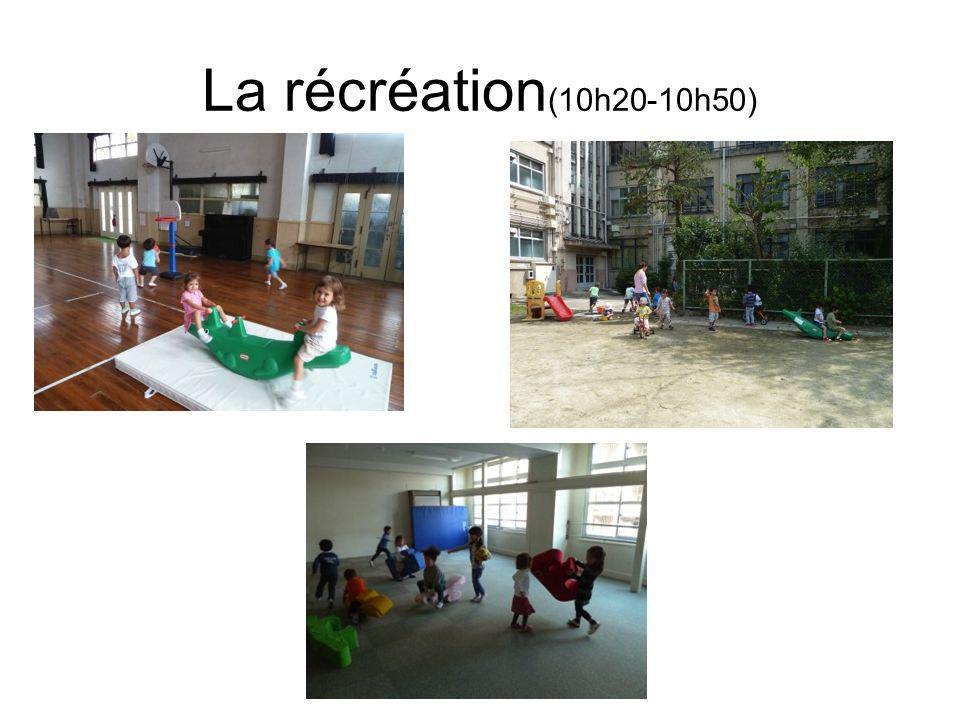 La récréation(10h20-10h50)