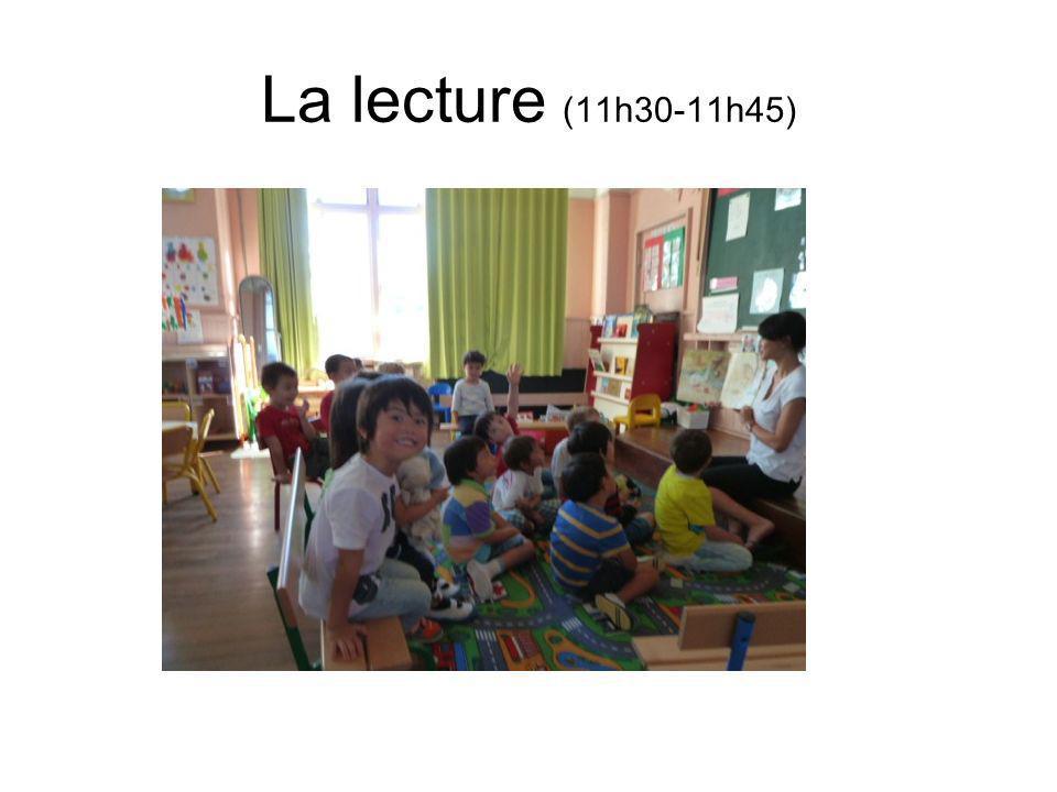 La lecture (11h30-11h45)