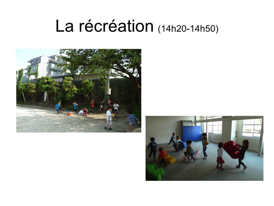 La récréation (14h20-14h50)
