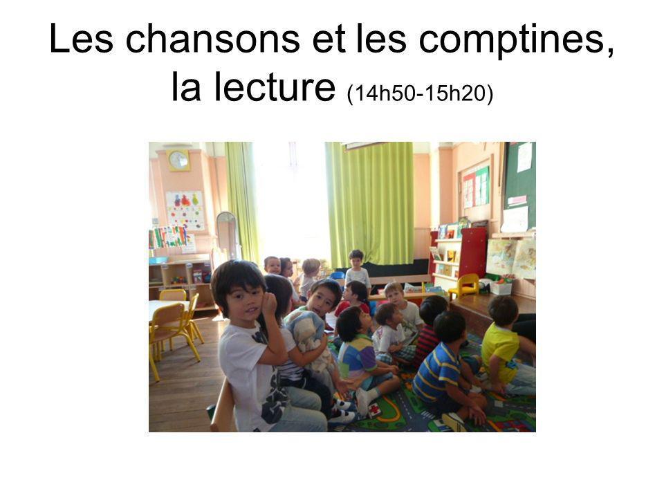 Les chansons et les comptines, la lecture (14h50-15h20)