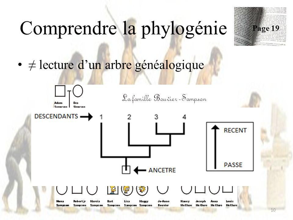 Comprendre la phylogénie