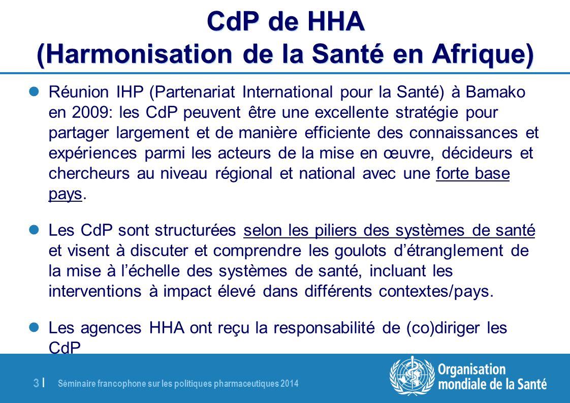 CdP de HHA (Harmonisation de la Santé en Afrique)