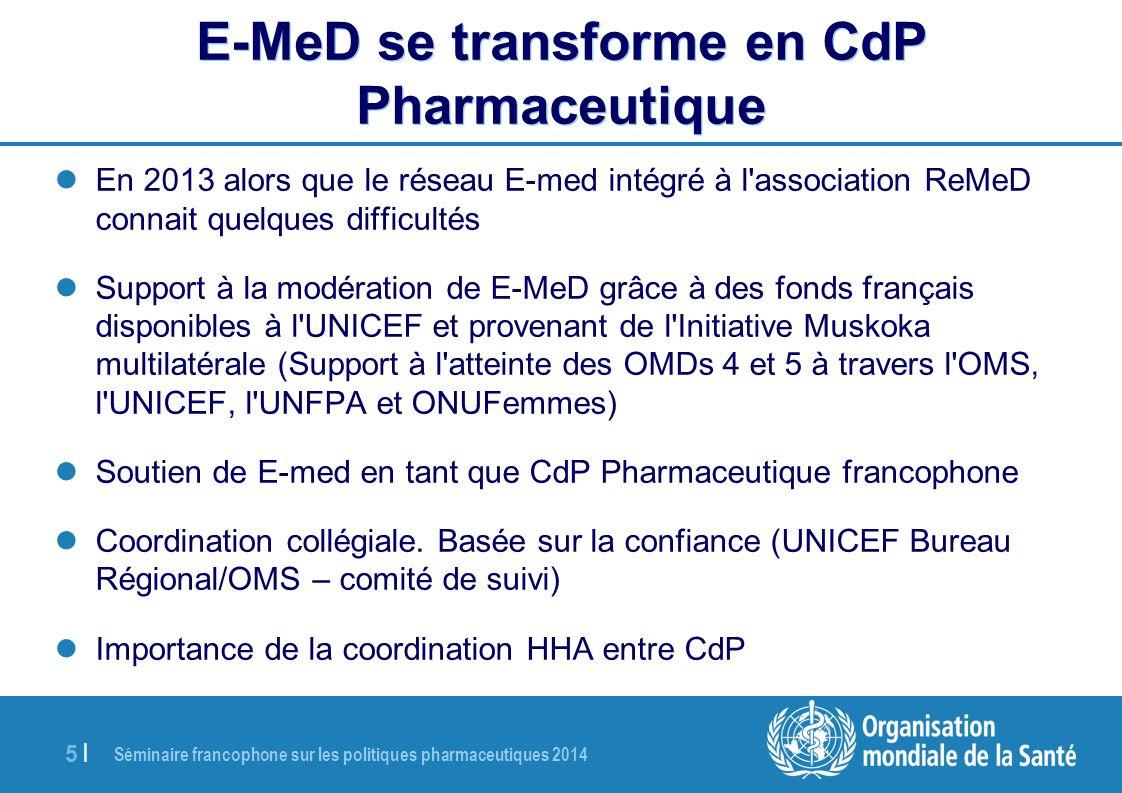 E-MeD se transforme en CdP Pharmaceutique