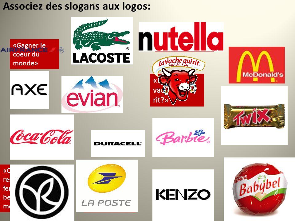 Associez des slogans aux logos: