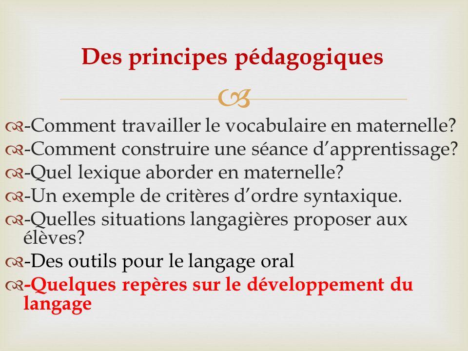 Des principes pédagogiques