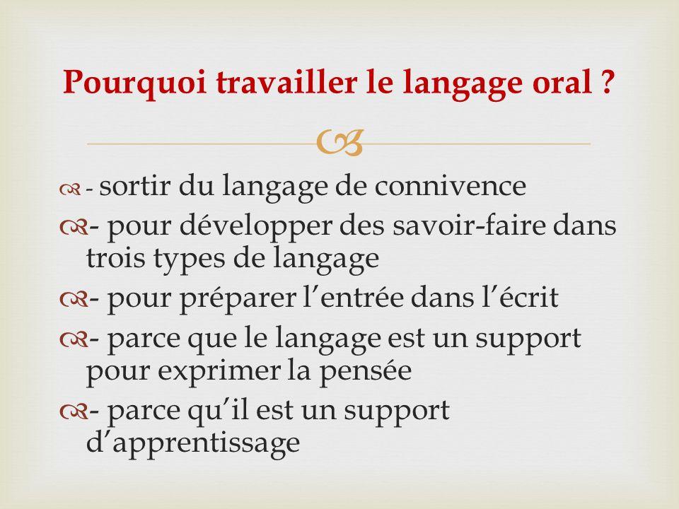 Pourquoi travailler le langage oral