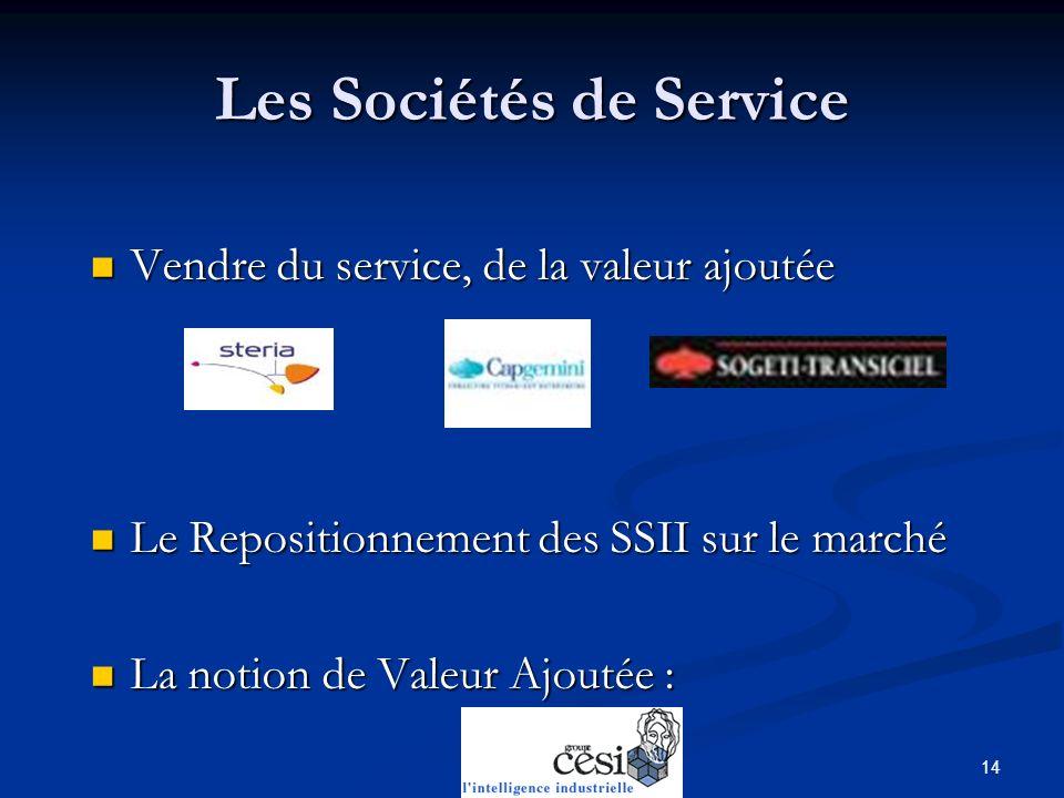 Les Sociétés de Service