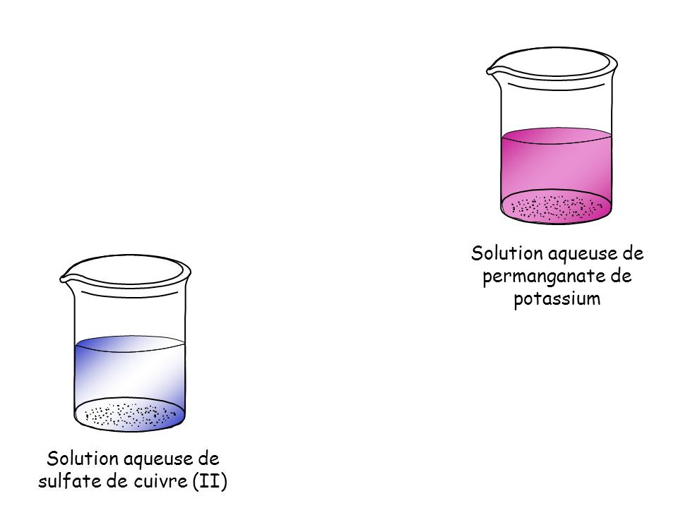 Solution aqueuse de permanganate de potassium