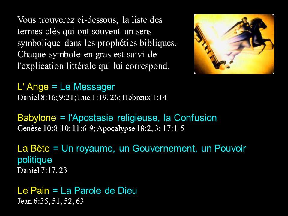 Babylone = l Apostasie religieuse, la Confusion