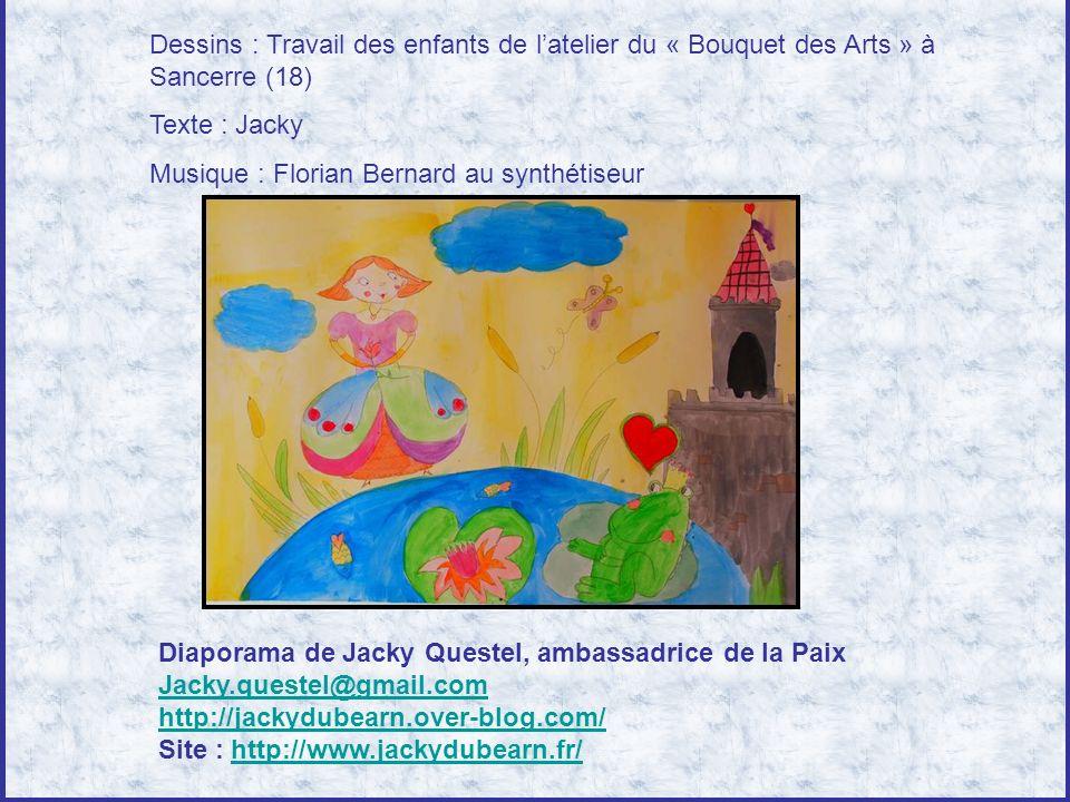 Dessins : Travail des enfants de l'atelier du « Bouquet des Arts » à Sancerre (18)