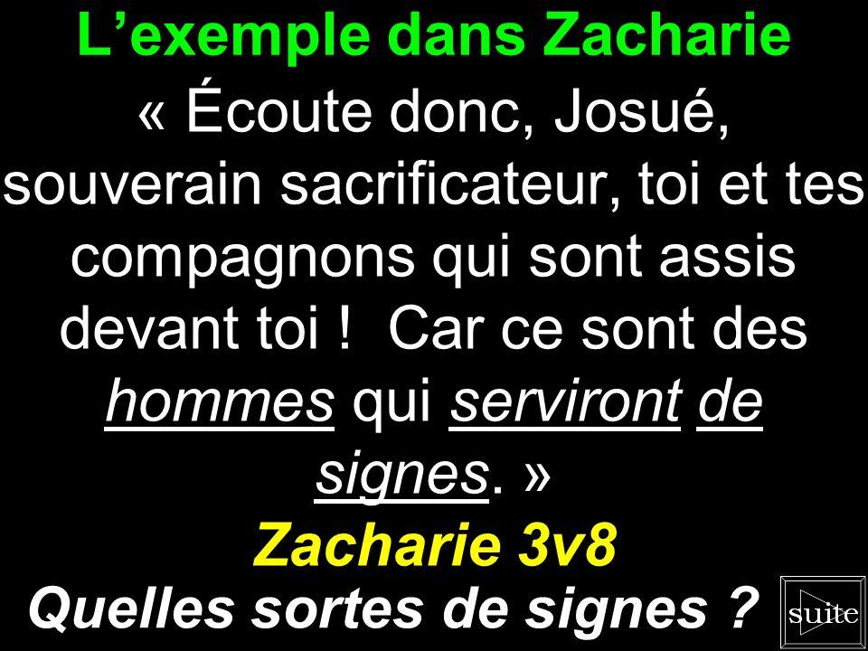 L'exemple dans Zacharie
