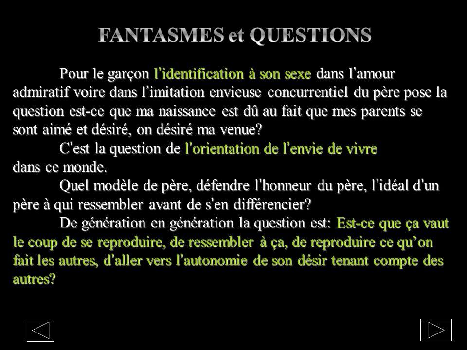 FANTASMES et QUESTIONS