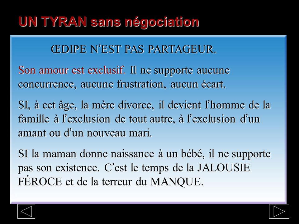 UN TYRAN sans négociation