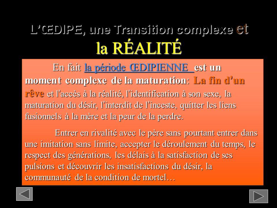 L'ŒDIPE, une Transition complexe et la RÉALITÉ