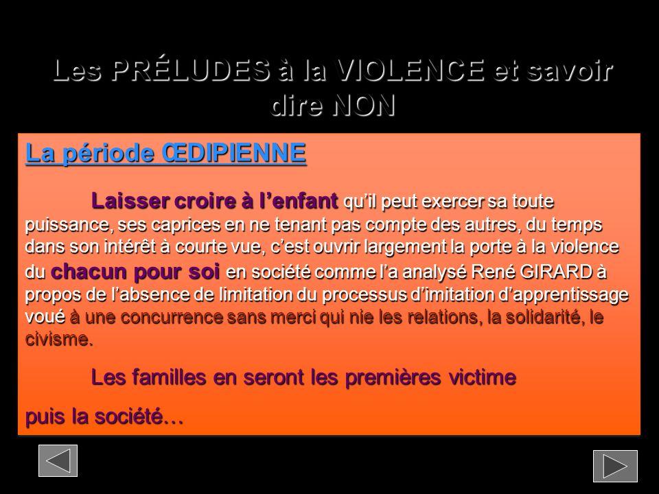 Les PRÉLUDES à la VIOLENCE et savoir