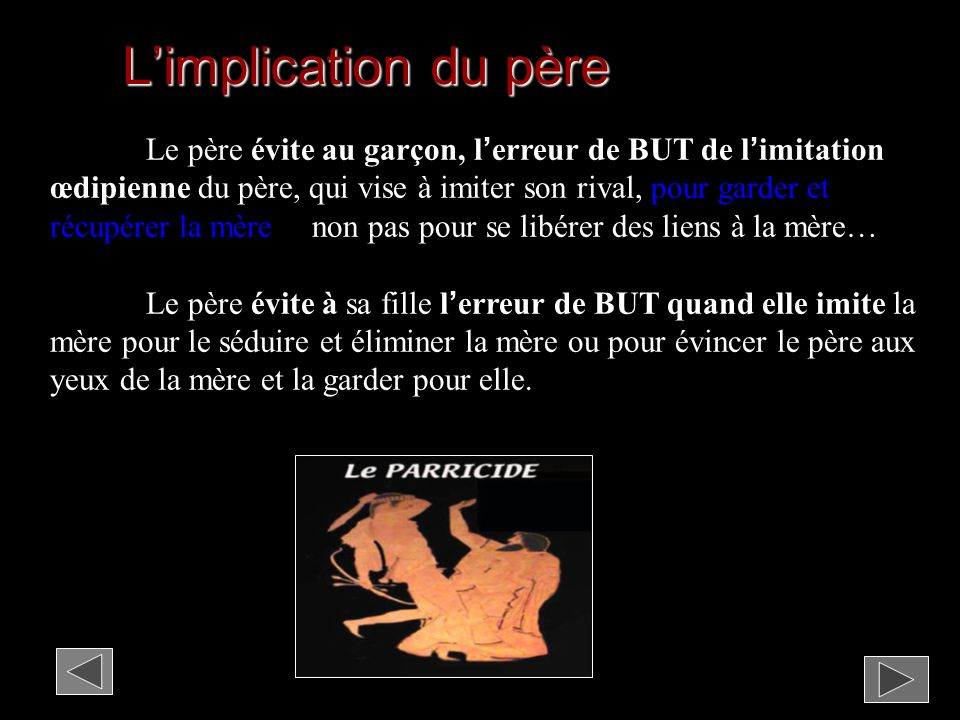 L'implication du père