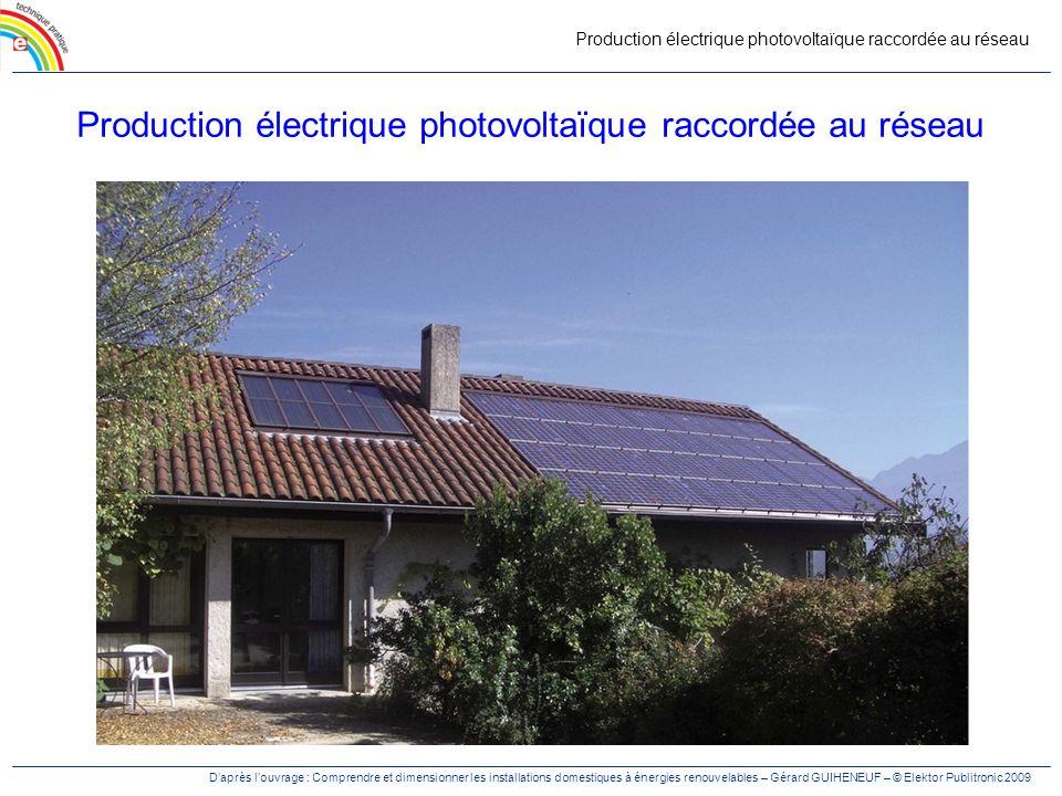 Production électrique photovoltaïque raccordée au réseau