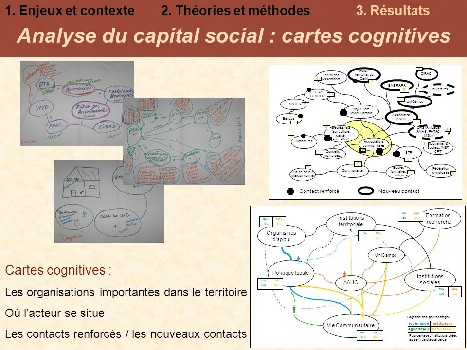 Analyse du capital social : cartes cognitives