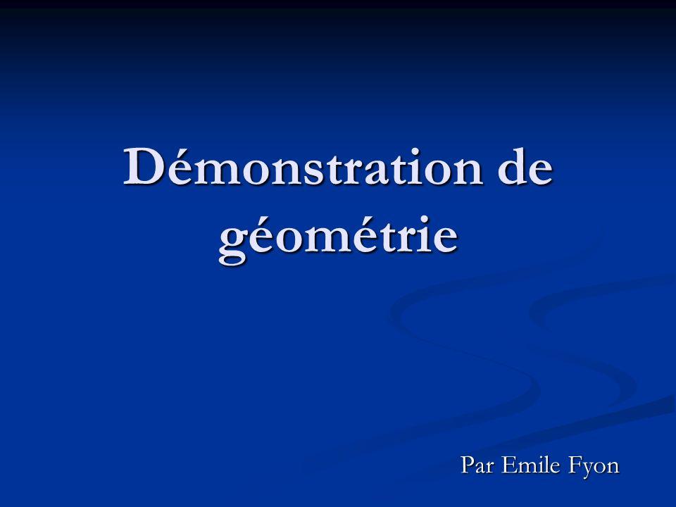 Démonstration de géométrie