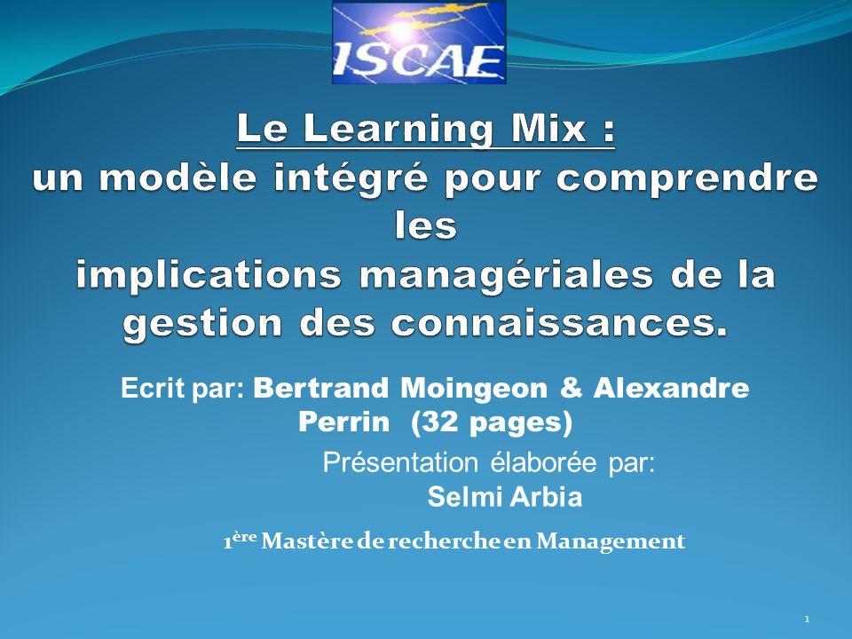 Ecrit par: Bertrand Moingeon & Alexandre Perrin (32 pages)