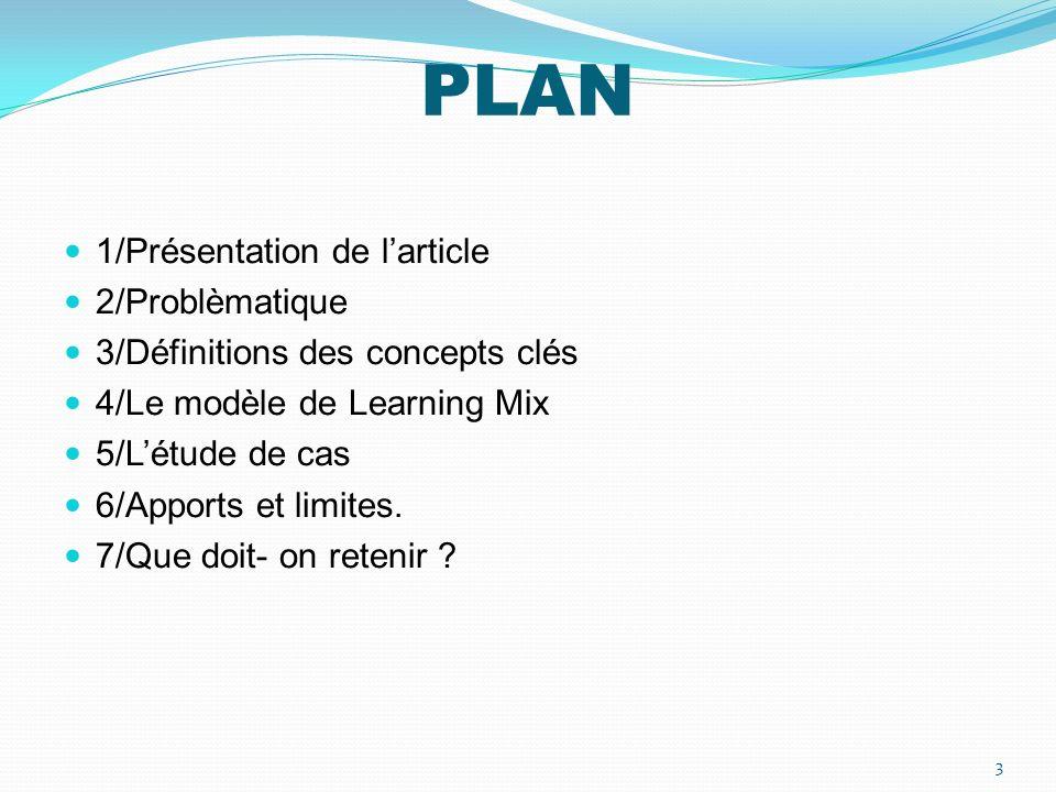 PLAN 1/Présentation de l'article 2/Problèmatique
