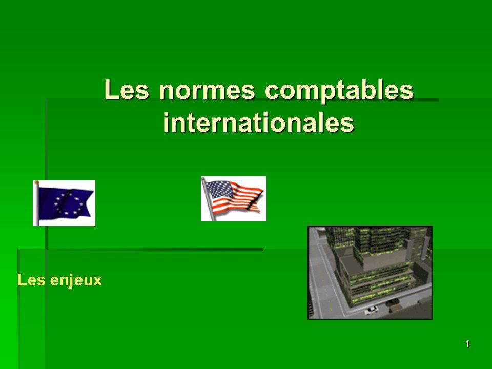 Les normes comptables internationales