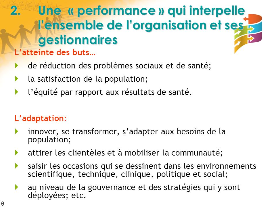 2. Une « performance » qui interpelle