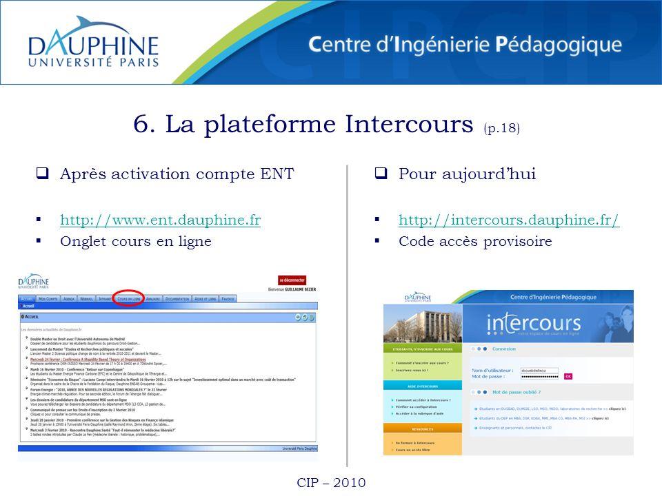 6. La plateforme Intercours (p.18)