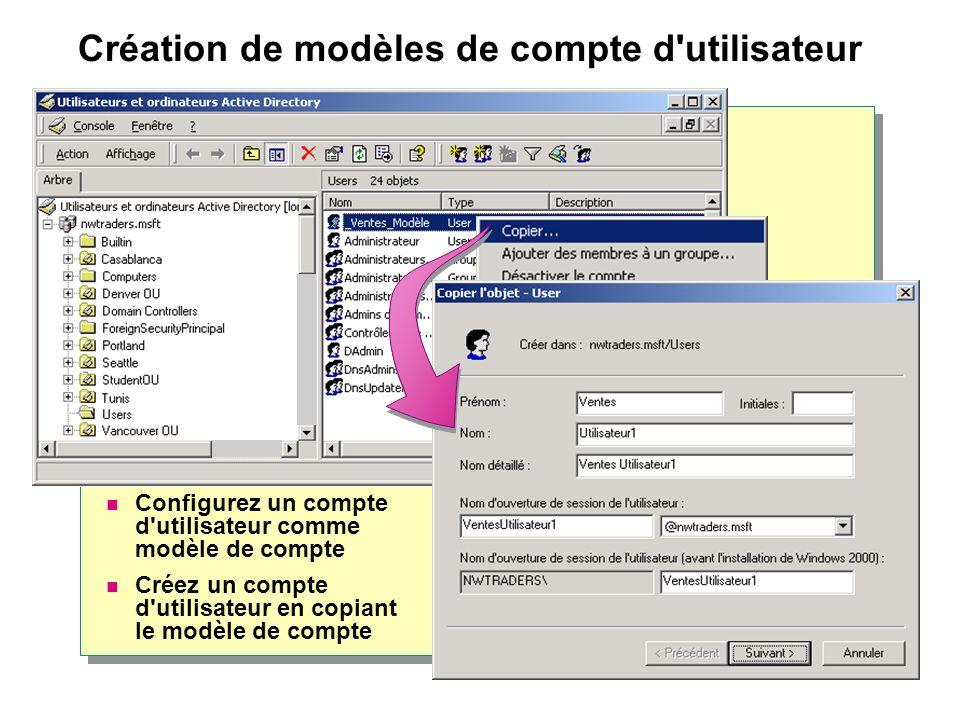 Création de modèles de compte d utilisateur