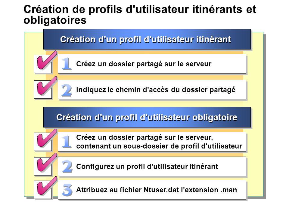 Création de profils d utilisateur itinérants et obligatoires