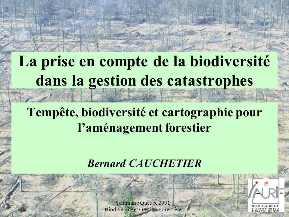 La prise en compte de la biodiversité dans la gestion des catastrophes