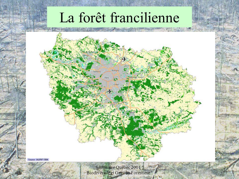 Séminaire Québec 2001 Biodiversité et Gestion Forestière