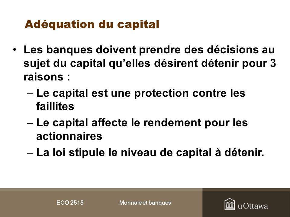 Le capital est une protection contre les faillites