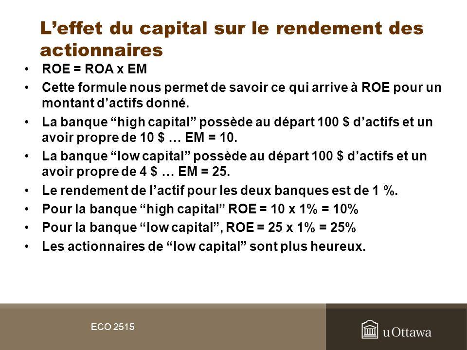 L'effet du capital sur le rendement des actionnaires