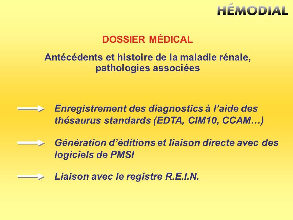 Antécédents et histoire de la maladie rénale, pathologies associées