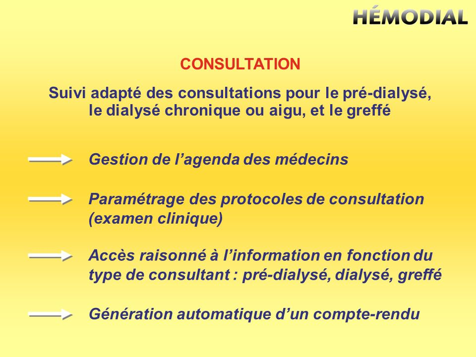 Suivi adapté des consultations pour le pré-dialysé,