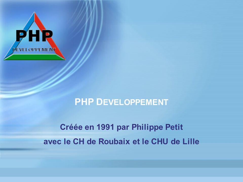 PHP DEVELOPPEMENT Créée en 1991 par Philippe Petit