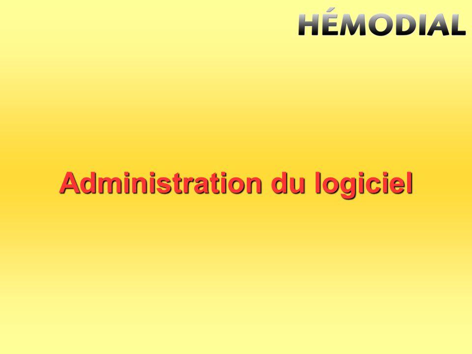 Administration du logiciel