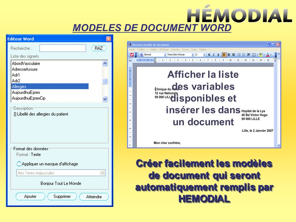 MODELES DE DOCUMENT WORD