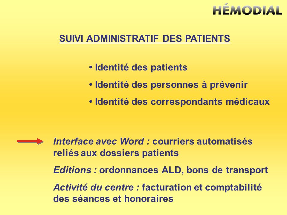 SUIVI ADMINISTRATIF DES PATIENTS